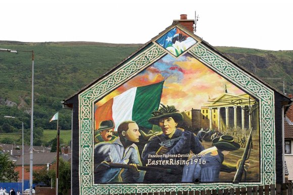 Ruth dudley edwards sunday independent for Easter rising mural