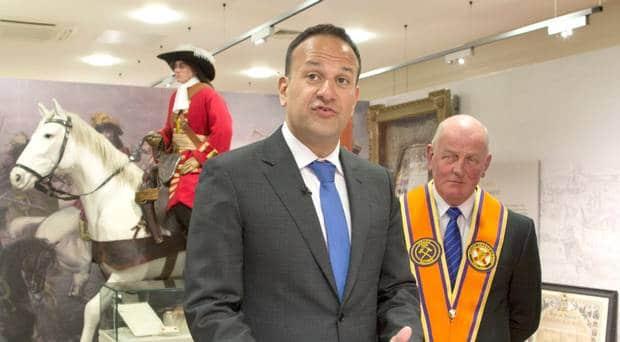 Taoiseach Leo Varadkar at Orange Order headquarters in Belfast last week