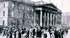 The shelled-out remains of the GPO after the Easter Rising