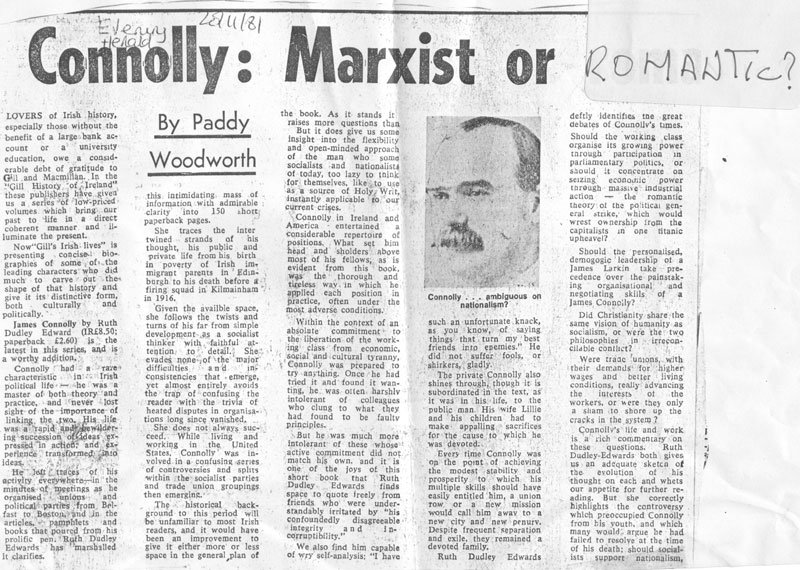 James Connolly: Evening Herald review