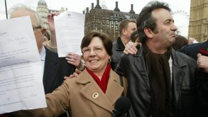 Freedom of speech: Gerry Conlon in 2005, with an official letter of apology