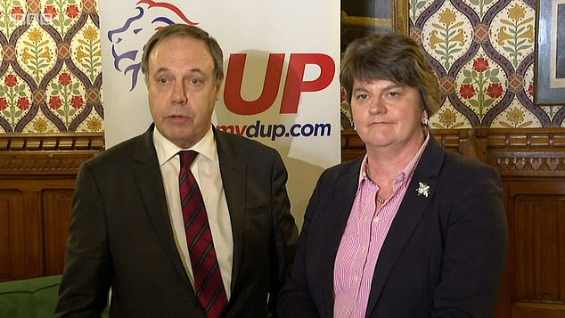 And in the interests of getting us out of the European Union, I now urge leader Arlene Foster, her deputy Nigel Dodds and the other eight DUP MPs to put country before party, writes Ruth Dudley Edwards