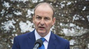 Fianna Fail's leader Micheal Martin is against a border poll