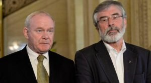 The late Martin McGuinness with Gerry Adams
