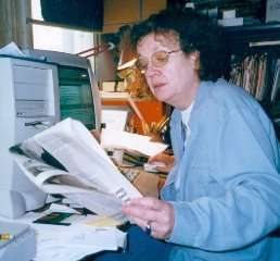 Ruth Dudley Edwards at home at work