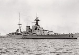 HMS Hood: Its majesty serves as a backdrop to one of Perriam's stories of passion