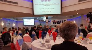 country's flag & history: Ruth Dudley Edwards speaking at the TUV conference in Cookstown at the weekend