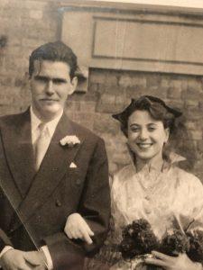 John Lippitt after his marriage to Gwenda Jones