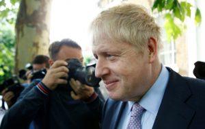 PM hopeful Boris Johnson leaves his home in London
