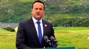 Neither John Bruton nor (pictured) Leo Varadkar believe Republic is ready for reunification