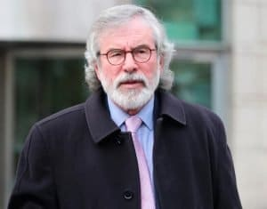 Gerry Adams has been accused by critics of living in 'an imaginary past'
