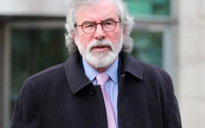 He's keeping a lowish profile, but Gerry Adams still remains very significant within Sinn Fein