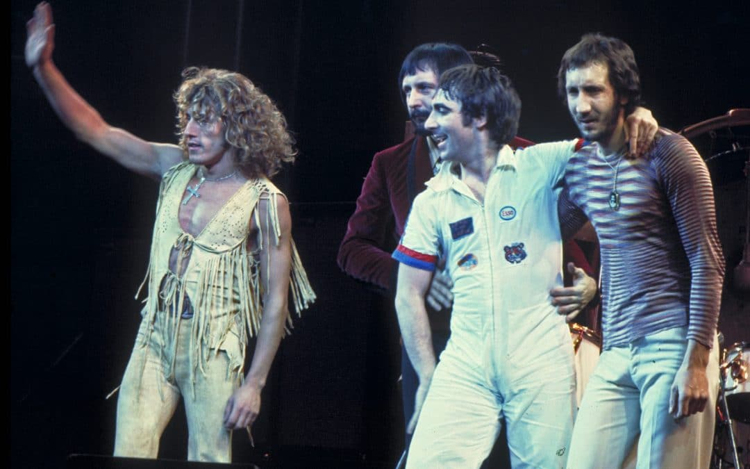The Who performing in Chicago, 1975. Wikimedia.