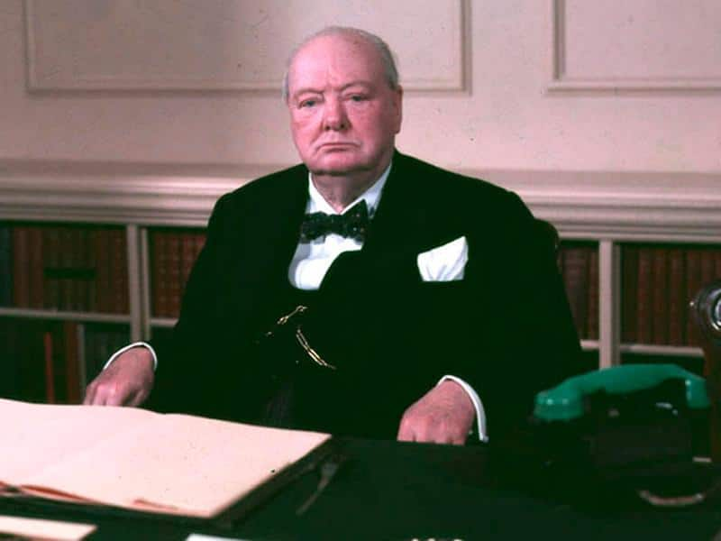 Winston Churchill (pictued) and David Trimble have often divided opinion