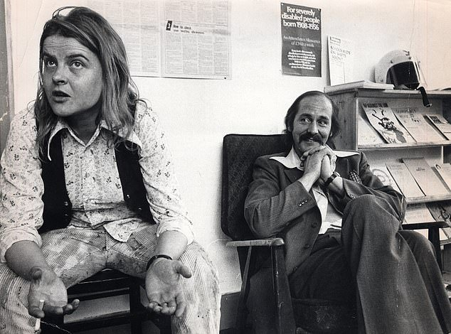 In 1972, Rose Dugdale (left) resigned from her job, sold her Chelsea home and moved into a flat in Tottenham with her married revolutionary socialist lover Walter Heaton (right), a former Guardsman who had done time for minor offences