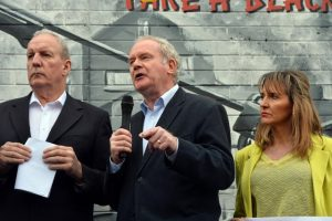 Many in the Republic now vote for Sinn Fein and ignore the fact that the party president, Mary Lou McDonald, eulogises terrorists like the late Martin McGuinness, left, and Bobby Storey
