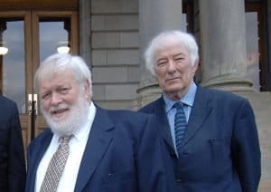 """The Northern Ireland poet Michael Longley, above, said of Seamus Heaney, right, that he is """"so loved and revered, everyone wants a bit of him, including unionists"""""""