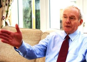 """The former IRA terrorist commander and Sinn Fein deputy first minister Martin McGuinness, as seen in a """"sickeningly romanticised"""" TG4 documentary about him in January 2021"""