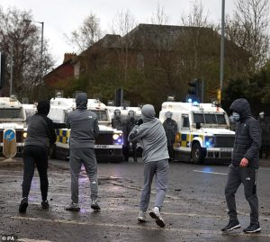 the scene at Springfield Road, Belfast today