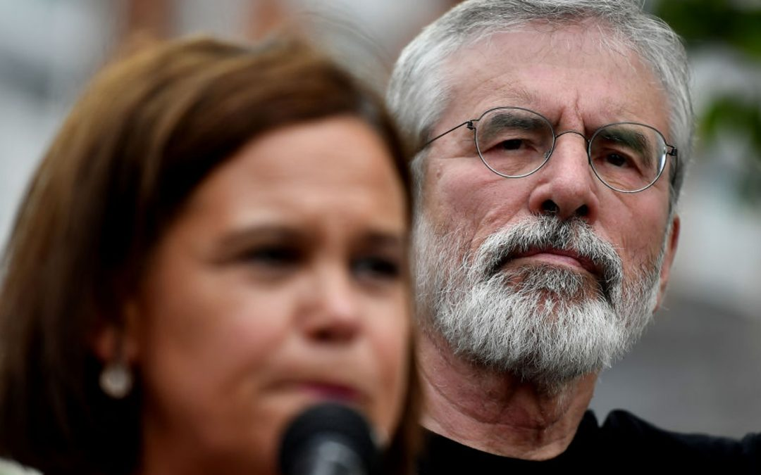 Sinn Fein leader Mary Lou McDonald, pictured with Gerry Adams (Getty images)