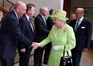 In 2012 in Belfast Prince Philip shook hands with Martin McGuinness — one of those who had ordered the murder of his uncle Louis Mountbatten