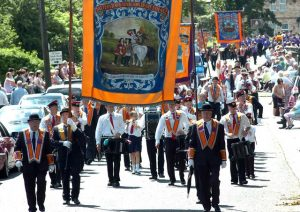 """The Twelfth in Garvagh yestrday. Ruth Dudley Edwards writes: """"I was delighted that it was possible to organise parades this year"""