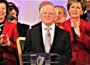 Michael D Higgins at his 2011 inauguration